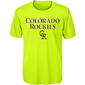Majestic Youth Colorado Rockies Glowing Game Neon T-Shirt