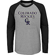 Majestic Youth Colorado Rockies Good Play Raglan Long Sleeve Shirt