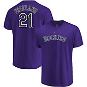 Majestic Men's Colorado Rockies Kyle Freeland #21 Purple T-Shirt