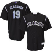 Youth Replica Colorado Rockies Charlie Blackmon #19 Alternate Black Jersey