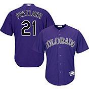Youth Replica Colorado Rockies Kyle Freeland #21 Alternate Purple Jersey