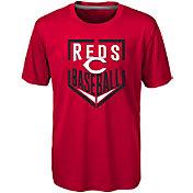 Majestic Boys' Cincinnati Reds Dri-Tek Run Scored T-Shirt