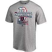 Majestic Youth 2018 AL Champions Locker Room Boston Red Sox Grey T-Shirt