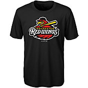 Majestic Youth Rochester Red Wings Black T-Shirt
