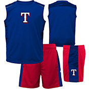 Majestic Boys' Texas Rangers Home Stand Shorts & Top Set