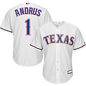 Youth Replica Texas Rangers Elvis Andrus #1 Home White Jersey