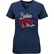 Majestic Youth Girls' Boston Red Sox Banner V-Neck T-Shirt