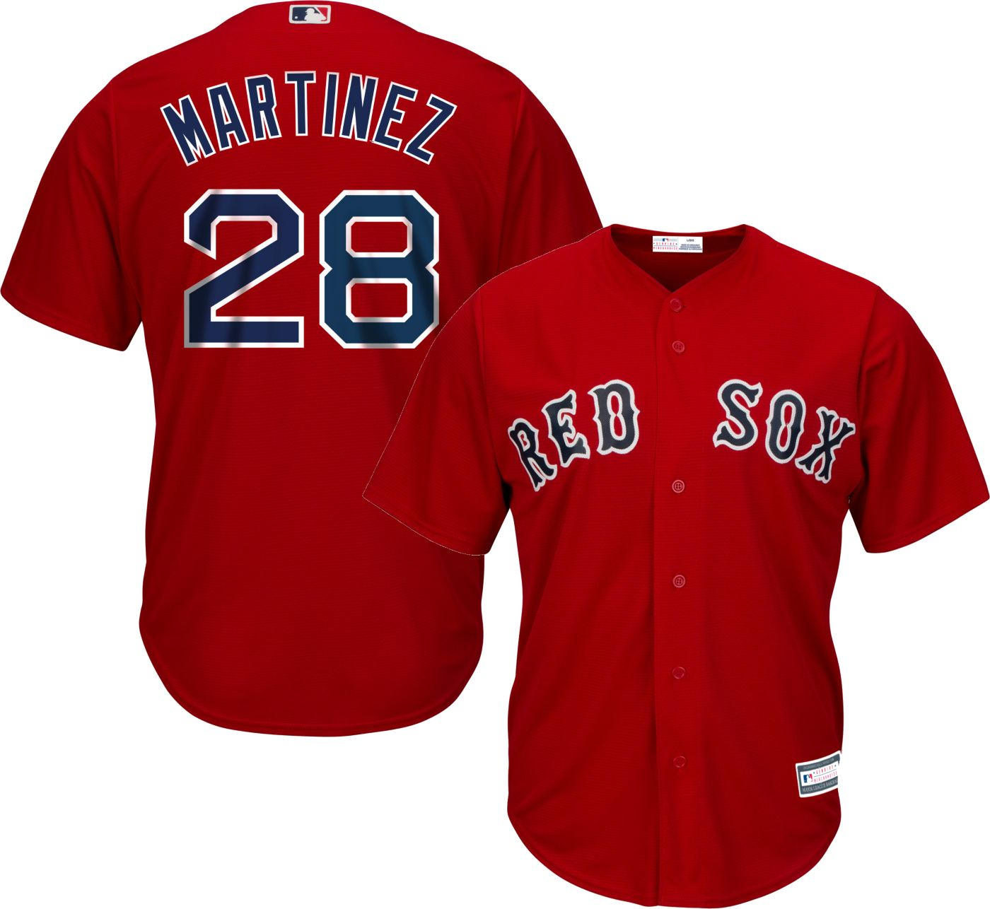 Youth Replica Boston Red Sox J.D. Martinez #28 Alternate Red Jersey