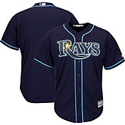 Majestic Youth Replica Tampa Bay Rays Cool Base Alternate Navy Jersey