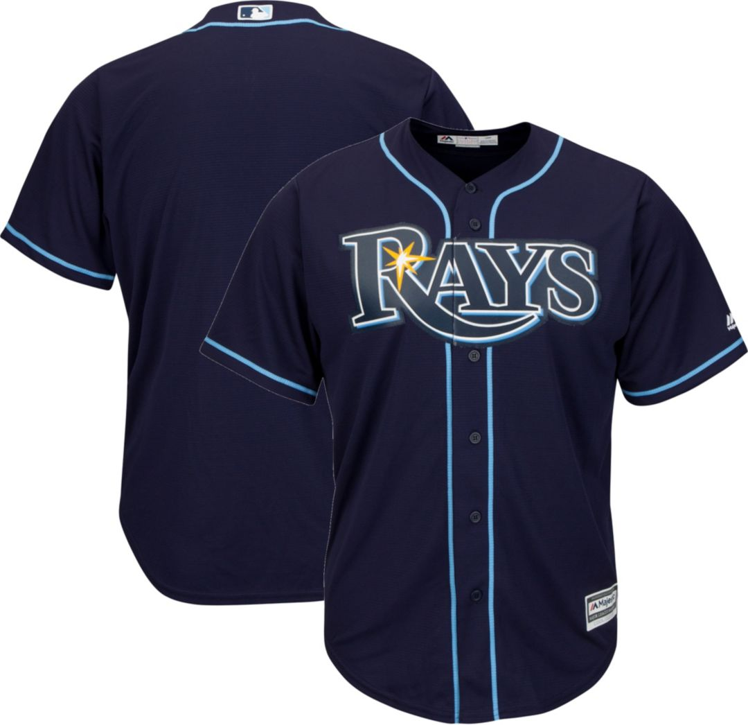 cheap for discount 3be94 31ce2 Majestic Youth Replica Tampa Bay Rays Cool Base Alternate Navy Jersey