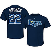 Majestic Youth Tampa Bay Rays Chris Archer Navy T-Shirt