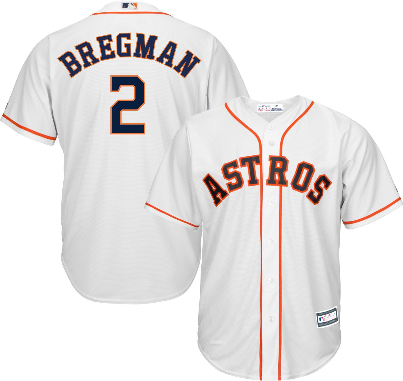 Youth Replica Houston Astros Alex Bregman #2 Home White Jersey