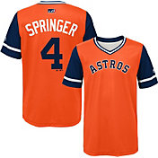 "Majestic Youth Houston Astros George Springer ""Springer"" MLB Players Weekend Jersey Top"