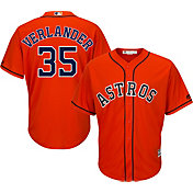 Majestic Youth Replica Houston Astros Justin Verlander #35 Cool Base Alternate Orange Jersey