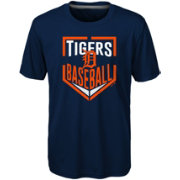 Majestic Boys' Detroit Tigers Dri-Tek Run Scored T-Shirt
