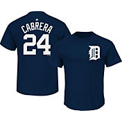 Majestic Boys' Detroit Tigers Miguel Cabrera #24 Navy T-Shirt