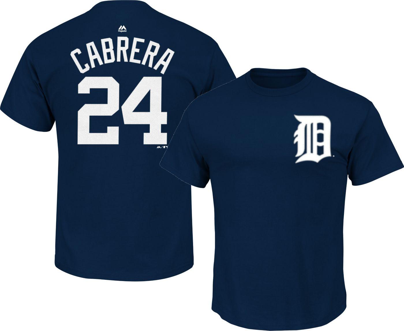 Majestic Boys' Detroit Tigers Miguel Cabrera #24 Navy T-Shirt