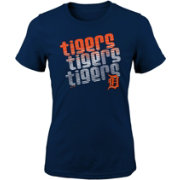 Majestic Youth Girls' Detroit Tigers 3-Peat T-Shirt