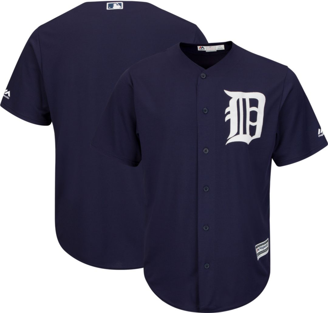 size 40 b0070 84fa3 Majestic Youth Replica Detroit Tigers Cool Base Alternate Navy Jersey