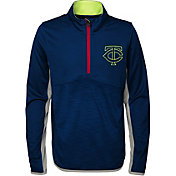Majestic Youth Minnesota Twins Excellence Quarter-Zip Fleece