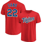 1dfc3bfadaf Majestic Youth Minnesota Twins Miguel Sano  22 Red T-Shirt