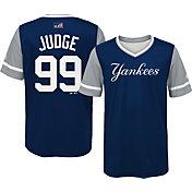 "Majestic Youth New York Yankees Aaron Judge ""Judge"" MLB Players Weekend Jersey Top"