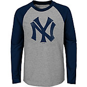 Majestic Youth New York Yankees Glory Days Raglan Long Sleeve Shirt