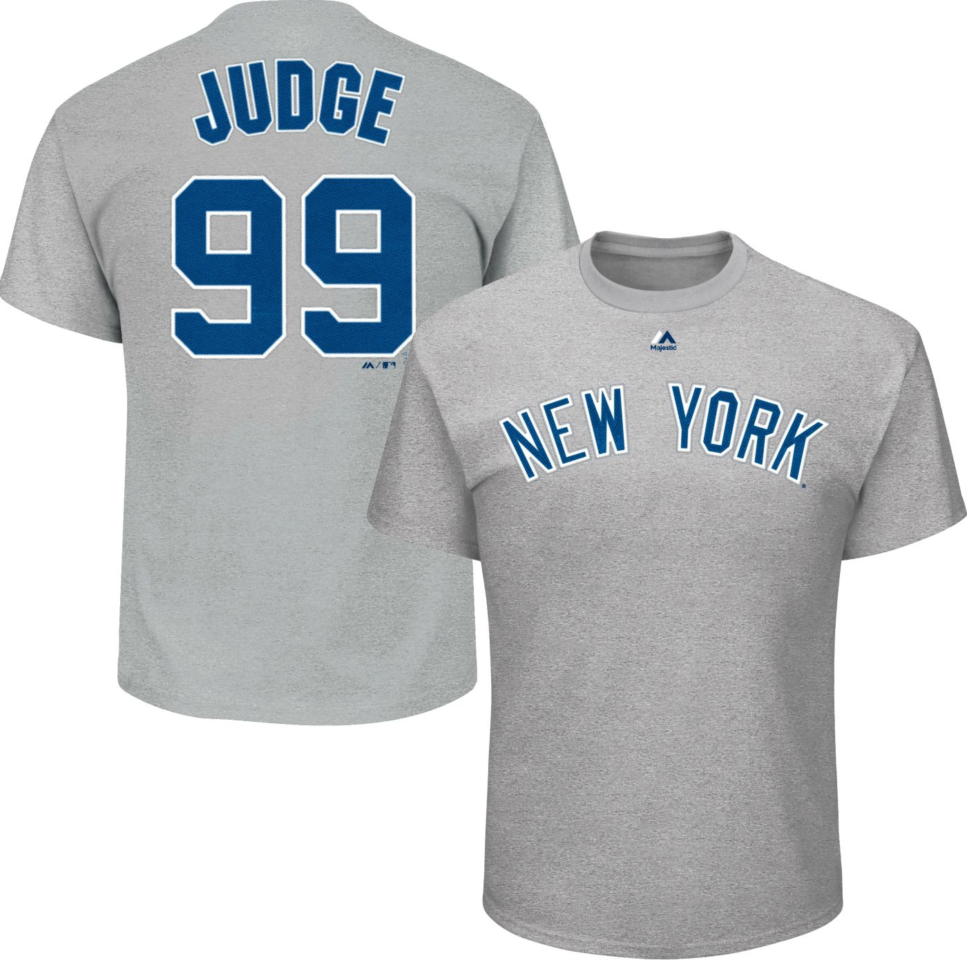 Majestic Youth New York Yankees Aaron Judge Grey T-Shirt