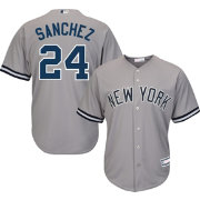 Youth Replica New York Yankees Gary Sanchez #24 Road Grey Jersey