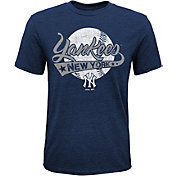 Majestic Youth New York Yankees Flagship Tri-Blend T-Shirt