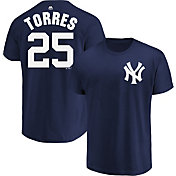 Majestic Youth New York Yankees Gleyber Torres #25 Navy T-Shirt