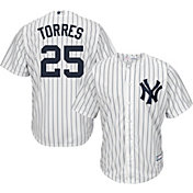 Youth Replica New York Yankees Gleyber Torres #25 Home White Jersey