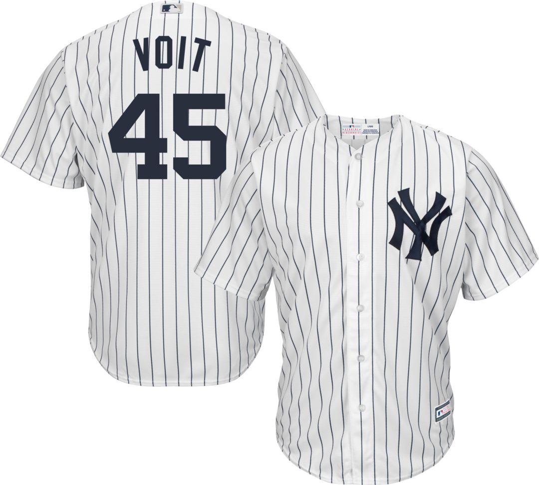purchase cheap e515a 2197c Youth Replica New York Yankees Luke Voit #45 Home White Jersey