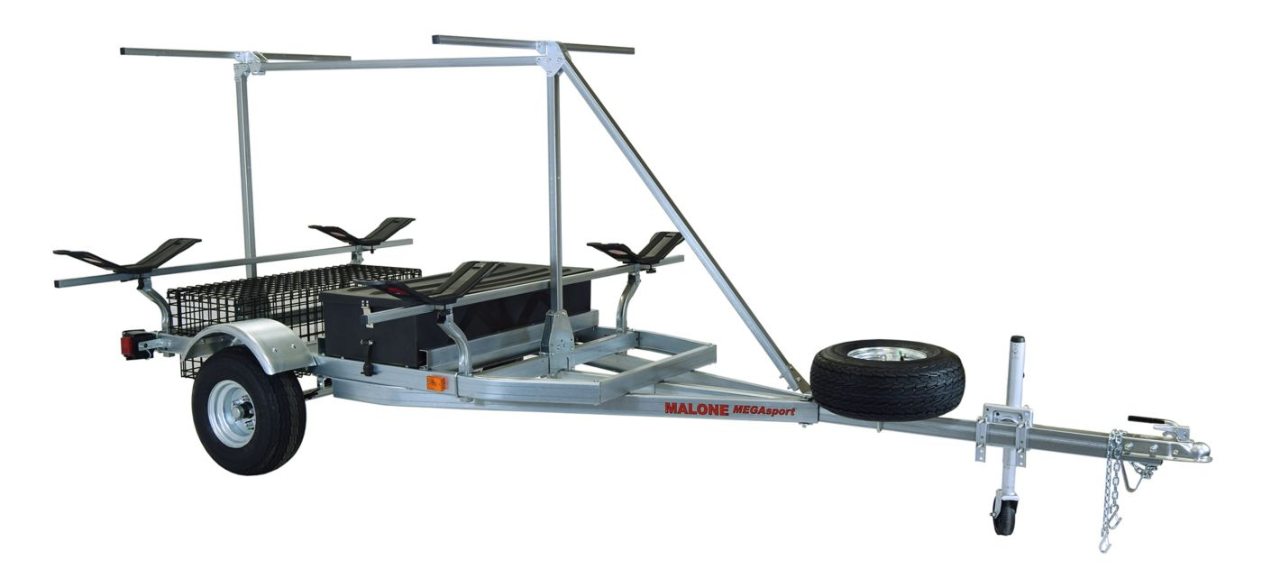 Malone MegaSport 2-Boat MegaWing Trailer Set with Storage & 2nd Tier