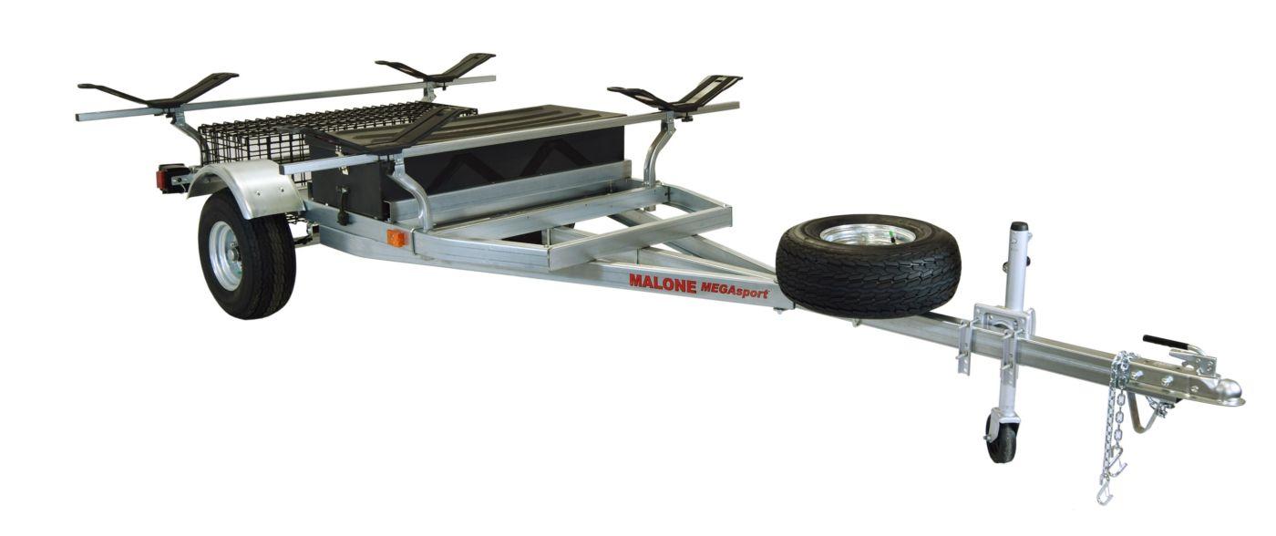 Malone MegaSport 2-Boat MegaWing Trailer Set with Storage
