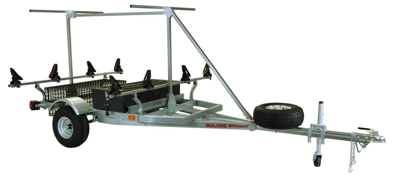 Malone MegaSport 2-Boat Saddle Up Pro Trailer Set with Storage & 2nd Tier