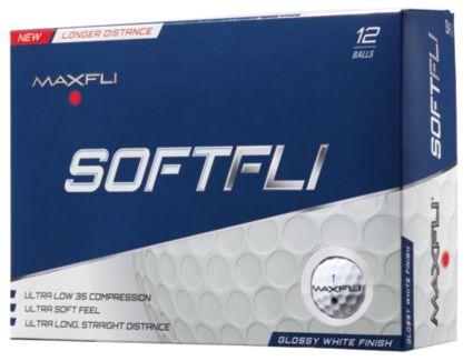 Maxfli SoftFli Gloss Personalized Golf Balls – White