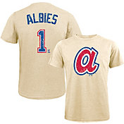 Majestic Threads Men's Atlanta Braves Ozzie Albies Tri-Blend T-Shirt