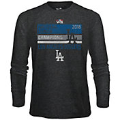 Majestic Threads Men's 2018 NL Champions Los Angeles Dodgers Long Sleeve Shirt