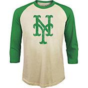 Majestic Threads Men's New York Mets St. Patrick's Day Raglan Three-Quarter Shirt