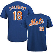 Majestic Threads Men's New York Mets Darryl Strawberry Cooperstown Tri-Blend T-Shirt