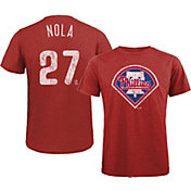 Majestic Threads Men's Philadelphia Phillies Aaron Nola Tri-Blend T-Shirt