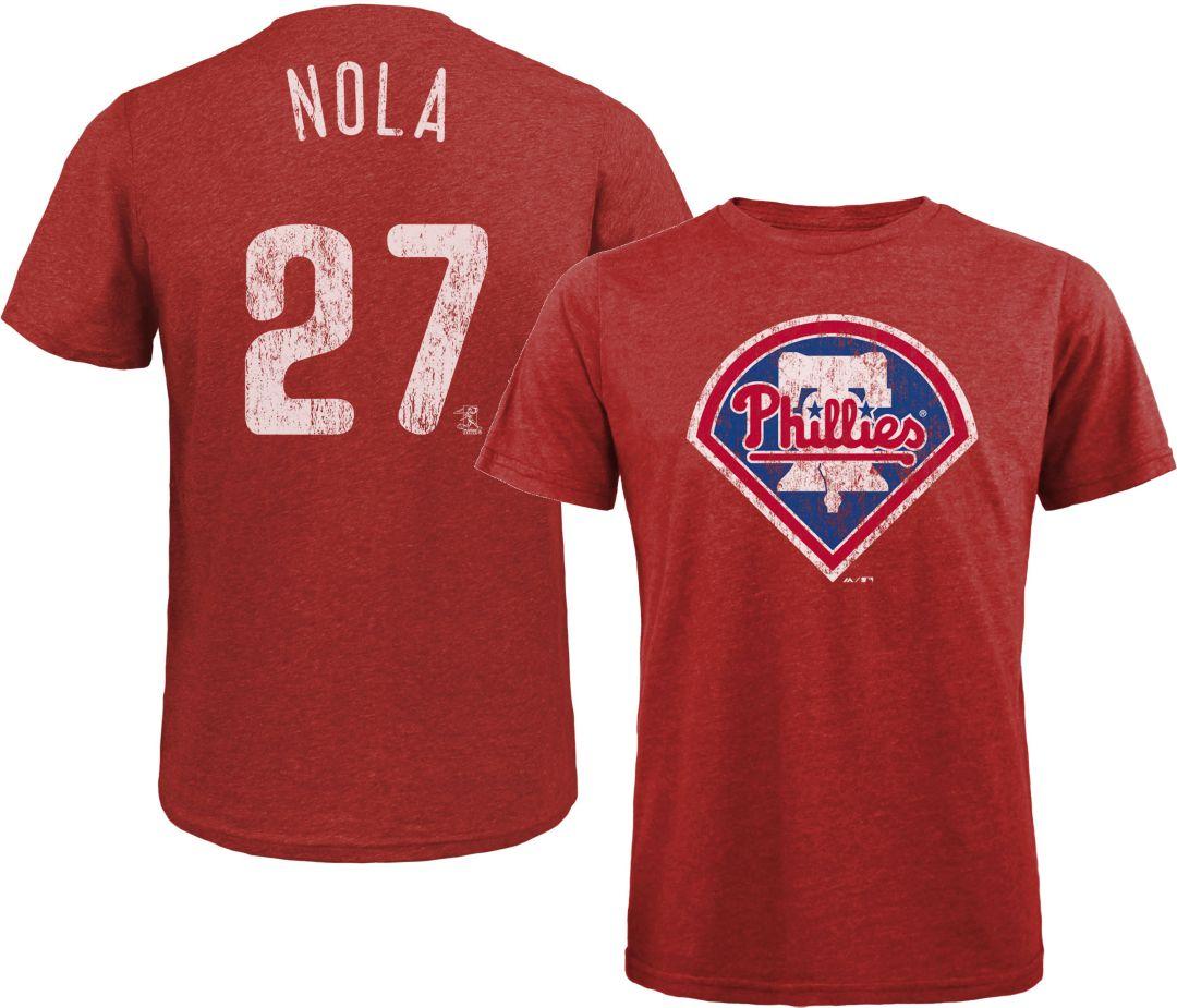 sports shoes 3c1f7 8c732 Majestic Threads Men's Philadelphia Phillies Aaron Nola Tri-Blend T-Shirt