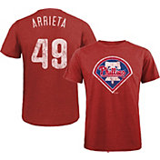 Majestic Threads Men's Philadelphia Phillies Jake Arrieta Tri-Blend T-Shirt