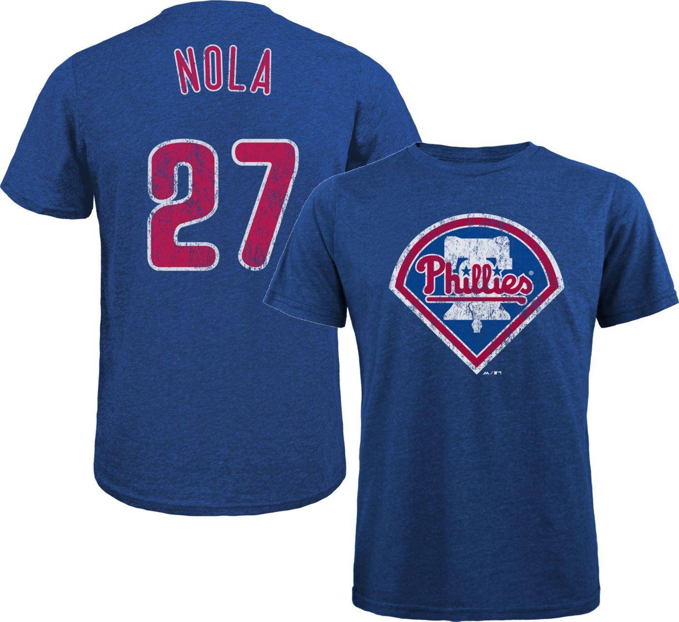 Majestic Threads Men's Philadelphia Phillies Aaron Nola Tri-Blend T-Shirt