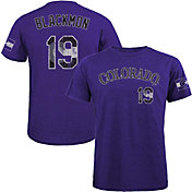 Majestic Threads Men's Colorado Rockies Charlie Blackmon Tri-Blend T-Shirt