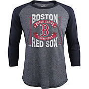 Majestic Threads Men's 2018 World Series Champions Boston Red Sox Three-Quarter Shirt