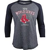 Majestic Threads Men's 2018 World Series Boston Red Sox Three-Quarter Shirt
