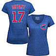 Majestic Threads Women's Chicago Cubs Kris Bryant Royal V-Neck T-Shirt