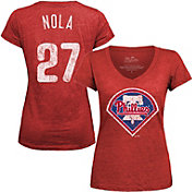Majestic Threads Women's Philadelphia Phillies Aaron Nola V-Neck T-Shirt